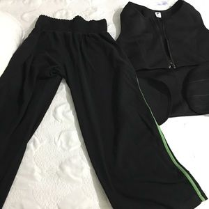 Workout Gear, Capri wide leg Leggings & Sauna Vest